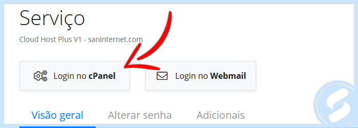 Login no cPanel via Área do Cliente
