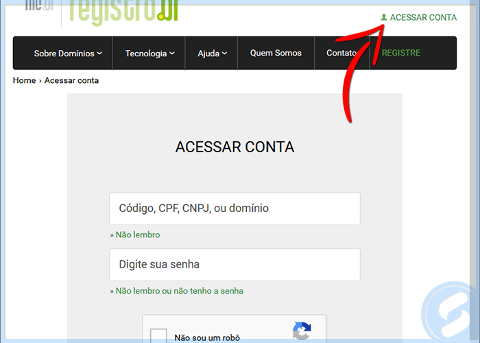 Login do Registro.Br