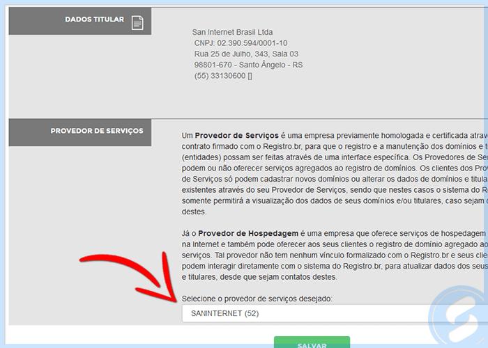 Provedor SAN no Registro.Br