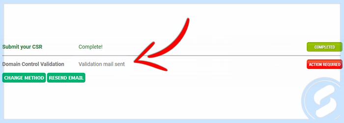 Validation Email Sent
